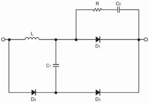 図2 Siダイオードを用いた場合に必要になるスナバー回路