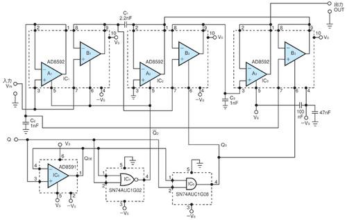 図1 ゲイン2の増幅が可能なSH回路