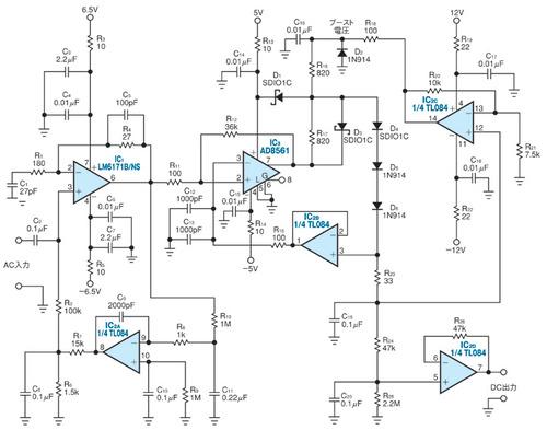 図1 広帯域のピーク検出回路
