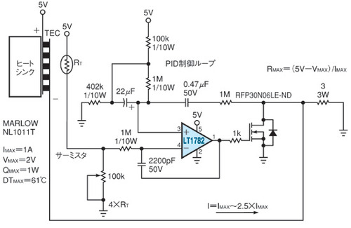 図2 単極駆動の温度調整回路