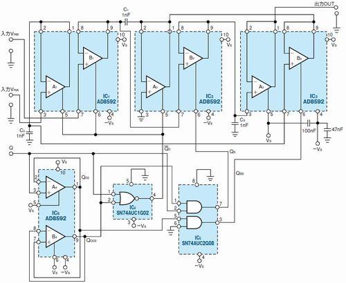 図1 2入力加算機能付きのSH回路