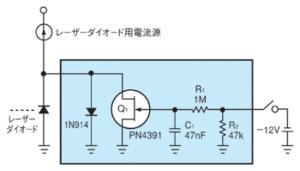 図1 レーザーダイオードの標準的な保護回路
