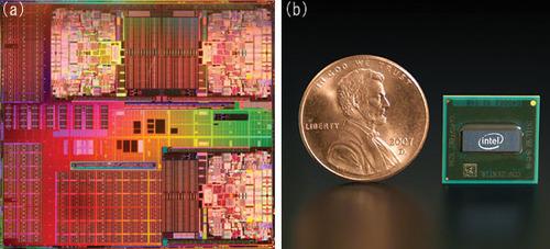 写真1 45nm技術で製造する2種類のマイクロプロセッサ