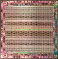 写真1 40nmプロセスで開発したFPGAチップの写真