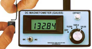 写真4 DC磁力計とセンサープローブの例(提供:AlphaLab社)