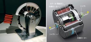 写真4 スーパーモーター(右)と3Dモーター