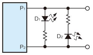 図1 Charlieplexing方式によるLEDの制御