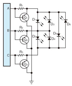 図1 Chipiplexing方式の概念図