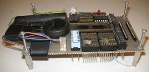 写真3 ワイヤーラッピングで作成したプロトタイプ