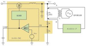 図1 レギュレータの回路と測定用の回路