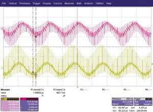 図2 オシロスコープで観測した波形