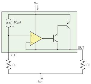図1 LT3092のアーキテクチャ