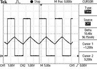 図2 IO<sub>1</sub>とコンデンサC<sub>1</sub>における電圧波形