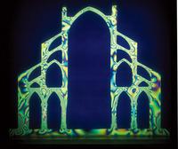 写真3 ゴシック大聖堂の歪パターン(提供:プリンストン大学のRobert Mark教授)