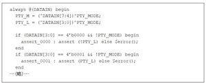 リスト5 RTLコードの内容をそのまま記述したアサーション(その2)