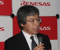 写真1 ルネサステクノロジの村松菊男氏