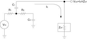 図3 サレンキー型フィルタの等価回路