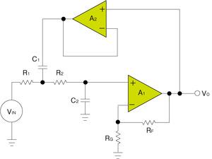 図5 ボルテージフォロワを追加した回路構成