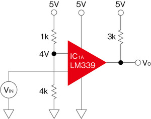 図4 LM339の不適切な使用例