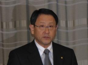 写真1 トヨタ自動車の豊田章男氏