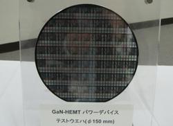 写真1 GaN系HEMTデバイスの量産試作ウェーハ