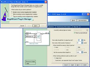図4:メガファンクションのパラメータをカスタマイズして入力できるQuartus II の「MegaWizard Plug-In Manager」機能