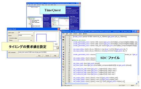 図3:Quartus II のTimeQuestではSDCファイルのデータを取り込むことができる