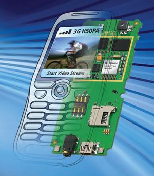 図2 3GのHSDPAをサポートする「XMM6130」(提供:Infineon社)