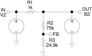 図5 ビヘイビア型電流源を利用した3端子シャントレギュレータのモデル
