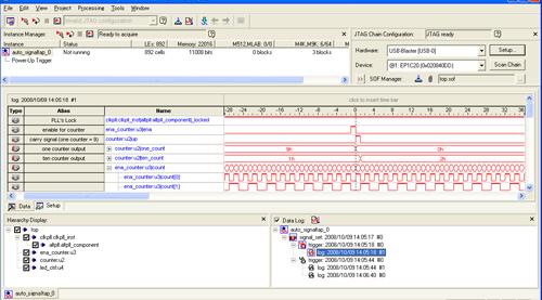 図6:Quartus II に標準搭載のSignalTap II機能でタイミングを検証