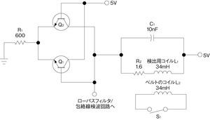 図1検出用コイルを用いた発振回路