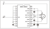 図7 AFS向けスマートパワーSoCの周辺回路図