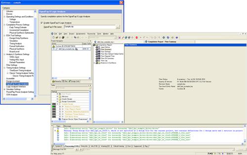"""図2:STP ファイルに対して""""イネーブル""""設定を行い、その上でコンパイル、プログラミングを実行する"""