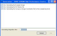 図2:DDR2 SDRAM High Performance Controller のデザイン・ファイル内の記述を変更した後、リジェネレートを行う