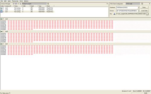 図7:In-System Memory Content Editor機能の操作画面