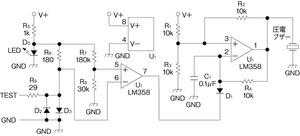 図1低電圧/低閾値のブザー回路