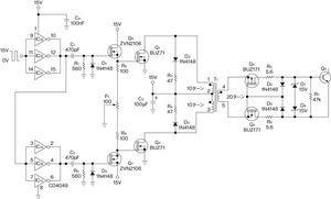 図1 パワートランジスタ用のゲート駆動回路