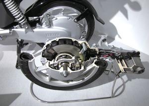 写真1「EC-03」のパワーユニットのカットモデル