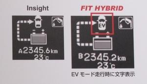 写真3 EV走行時の表示