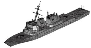 図2 戦艦をメッシュ化した様子