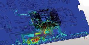 図4 プリント基板の配線間での干渉