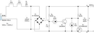 図1フライバックコンバータの前段に用いる整流回路