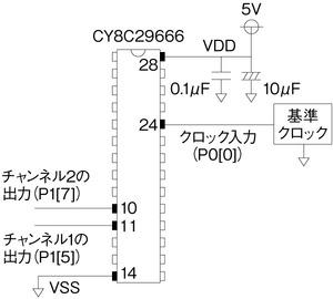 図2 外部端子と周辺部品の接続