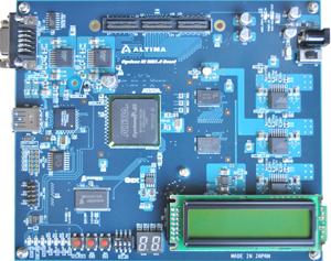 写真1:アルティマが開発した「Cyclone III USB3.0 Board」の外観