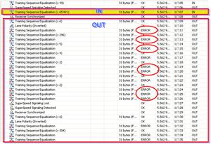 図2:プロトコルアナライザでの測定結果