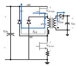 図2 漏れインダクタンスによる電力の回収