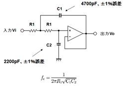図2 2次LPF回路の例