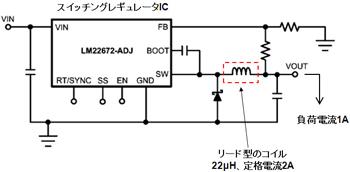 図16 スイッチングレギュレータでの利用例(提供:ナショナル セミコンダクター ジャパン)