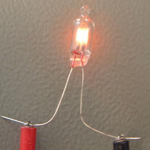 写真1 ネオン放電管