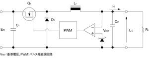 図2 スイッチング方式のレギュレータ回路